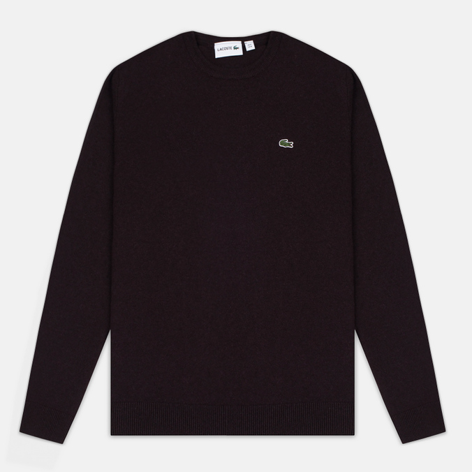 Мужской свитер Lacoste Embroidered Croc Logo Crew Neck Burgundy