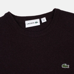 Мужской свитер Lacoste Embroidered Croc Logo Crew Neck Burgundy фото- 1