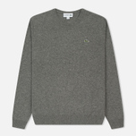 Мужской свитер Lacoste Embroidered Croc Logo Crew Neck Grey фото- 0