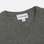 Мужской свитер Lacoste Embroidered Croc Logo Crew Neck Grey фото- 1