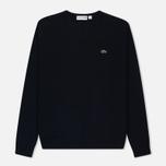 Мужской свитер Lacoste Embroidered Croc Logo Crew Neck Navy фото- 0