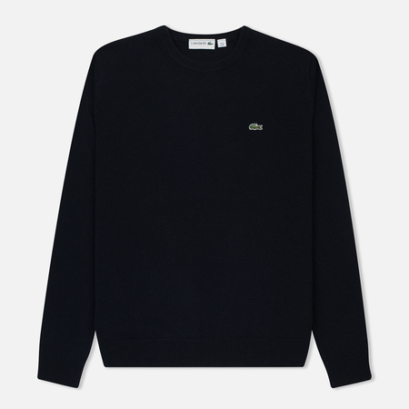 Мужской свитер Lacoste Embroidered Croc Logo Crew Neck Navy