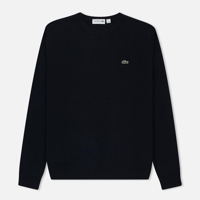 Мужской свитер Lacoste Embroidered Croc Logo Crew Neck Navy
