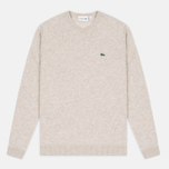 Мужской свитер Lacoste Embroidered Croc Logo Crew Neck Oats Chine фото- 0