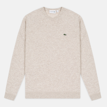 Мужской свитер Lacoste Embroidered Croc Logo Crew Neck Oats Chine