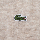 Мужской свитер Lacoste Embroidered Croc Logo Crew Neck Oats Chine фото- 3