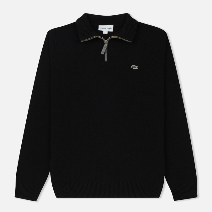 Мужской свитер Lacoste Half Zip Fastened Black/Pierre Chine