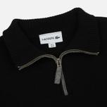 Мужской свитер Lacoste Half Zip Fastened Black/Pierre Chine фото- 2