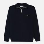 Мужской свитер Lacoste Half Zip Fastened Navy Blue/Silver Chine фото- 0