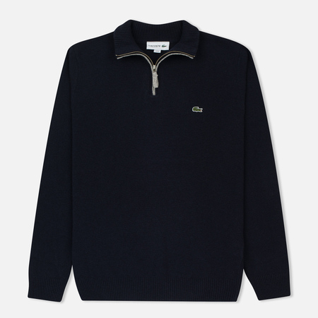 Мужской свитер Lacoste Half Zip Fastened Navy Blue/Silver Chine