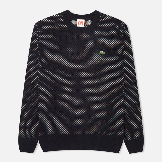 Lacoste Live Birdseye Wool Men's Sweater Navy/White