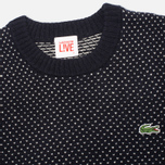 Lacoste Live Birdseye Wool Men's Sweater Navy/White photo- 1