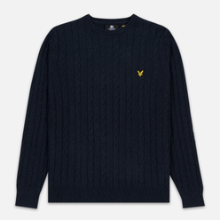 Мужской свитер Lyle & Scott Cable Jumper Dark Navy