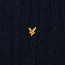 Мужской свитер Lyle & Scott Cable Jumper Dark Navy фото- 2
