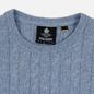 Мужской свитер Lyle & Scott Cable Jumper Stone Blue Marl фото - 1