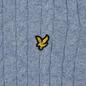 Мужской свитер Lyle & Scott Cable Jumper Stone Blue Marl фото - 2