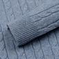 Мужской свитер Lyle & Scott Cable Jumper Stone Blue Marl фото - 3