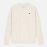 Мужской свитер Lyle & Scott Cable Knit Ivory фото- 0