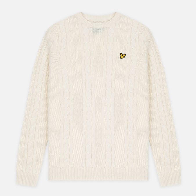 Мужской свитер Lyle & Scott Cable Knit Ivory