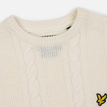 Мужской свитер Lyle & Scott Cable Knit Ivory фото- 1