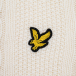 Мужской свитер Lyle & Scott Cable Knit Ivory фото- 2