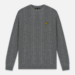 Мужской свитер Lyle & Scott Cable Knit Mid Grey Marl фото- 0
