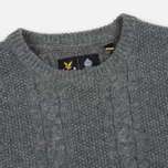 Мужской свитер Lyle & Scott Cable Knit Mid Grey Marl фото- 1