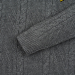 Мужской свитер Lyle & Scott Cable Knit Mid Grey Marl фото- 3