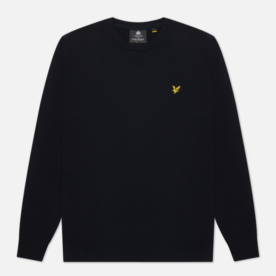 Мужской свитер Lyle & Scott Cotton Merino Crew Neck Jumper Dark Navy