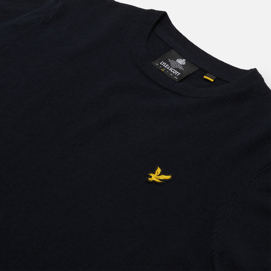 Мужской свитер Lyle & Scott Cotton Merino Crew Neck Jumper Dark Navy