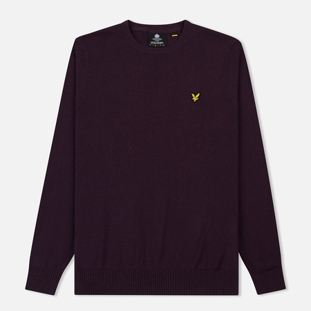 Мужской свитер Lyle & Scott Cotton Merino Crew Neck Jumper Deep Plum