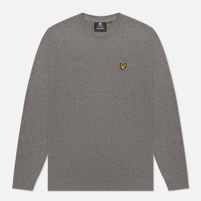 Мужской свитер Lyle & Scott Cotton Merino Crew Neck Jumper Mid Grey Marl