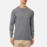 Мужской свитер Lyle & Scott Cotton Merino Crew Neck Jumper Mid Grey Marl фото- 2