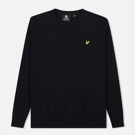Мужской свитер Lyle & Scott Cotton Merino Crew Neck Jumper True Black