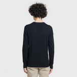 Мужской свитер Lyle & Scott Cotton Merino V Neck Jumper True Black фото- 3