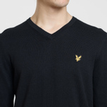 Мужской свитер Lyle & Scott Cotton Merino V Neck Jumper True Black фото- 2