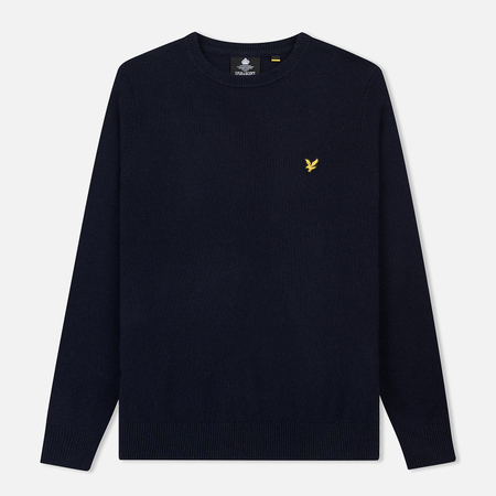 Мужской свитер Lyle & Scott Crew Neck Lambswool Blend Jumper Dark Navy