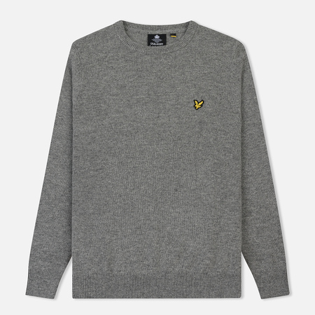 Мужской свитер Lyle & Scott Crew Neck Lambswool Blend Jumper Mid Grey Marl