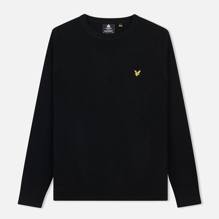 Мужской свитер Lyle & Scott Crew Neck Lambswool Blend Jumper True Black