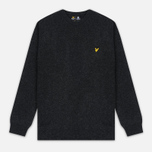 Мужской свитер Lyle & Scott Crew Neck Lambswool Charcoal Marl фото- 0