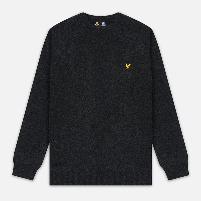 Мужской свитер Lyle & Scott Crew Neck Lambswool Charcoal Marl
