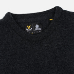 Мужской свитер Lyle & Scott Crew Neck Lambswool Charcoal Marl фото- 1