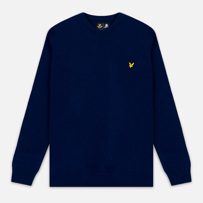 Мужской свитер Lyle & Scott Crew Neck Lambswool Navy