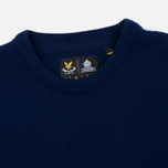 Мужской свитер Lyle & Scott Crew Neck Lambswool Navy фото- 1