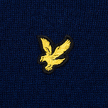 Мужской свитер Lyle & Scott Crew Neck Lambswool Navy фото- 2
