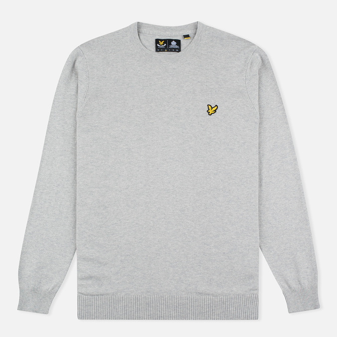 Мужской свитер Lyle & Scott Crew Neck Merino Light Grey Marl