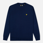 Мужской свитер Lyle & Scott Crew Neck Merino Navy фото- 0