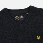 Мужской свитер Lyle & Scott V Neck Lambswool Charcoal Marl фото- 1
