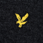 Мужской свитер Lyle & Scott V Neck Lambswool Charcoal Marl фото- 2