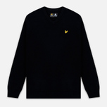 Мужской свитер Lyle & Scott V Neck Lambswool True Black фото- 0